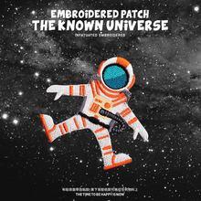 1 pçs planeta espaço astronauta remendo motociclista bandeira do exército ufo remendo estrangeiro crachá aplique barato ferro em remendos bordados para roupas