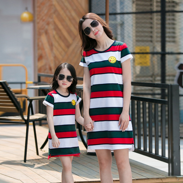 Aliexpress Com Buy 2019 Summer Style Mother Daughter Dresses