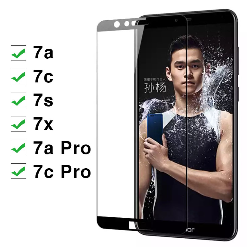 Image 2 - Protective Glass For Huawei Honor 7x 7s 7a 7c Pro Tempered Glas On The 7 X S A C X7 S7 A7 C7 7apro 7cpro Screen Protector Cover-in Phone Screen Protectors from Cellphones & Telecommunications