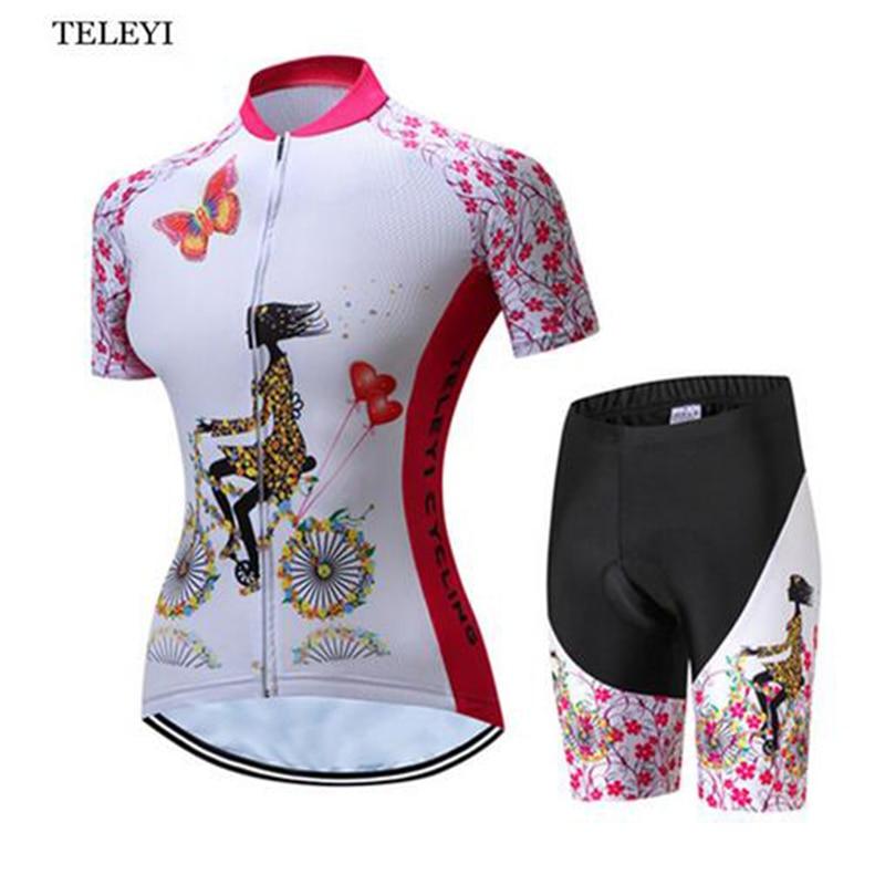 TELEYI MTB Bike Jersey Shortsit Ropa Ciclismo Jersey Naiset - Pyöräily