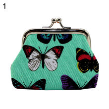 Retro Girl Mini Lightweight Kiss Lock Butterfly Cash Coin Storage Purse Wallet(China)