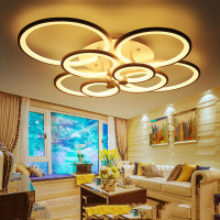 NEW LED Ring Light Living Room Ceiling Lamp Bedroom Lamp Modern Minimalist Restaurant 100W Ring Recommended