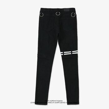Automne Nouveau Pantalon V Même Style Hommes Noir Joggeurs Occasionnels Crayon Pantalon Hanche Hop Zipper Pocket Skinny Pantalon Homme Pantalon