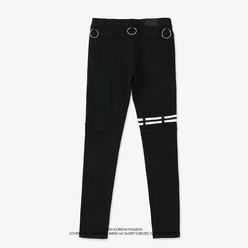 Automne Nouveau Pantalon BTS V Même Style Hommes Noir Occasionnel Joggers Crayon Pantalon Hanche Hop Zipper Pocket Skinny Pantalon Homme pantalon