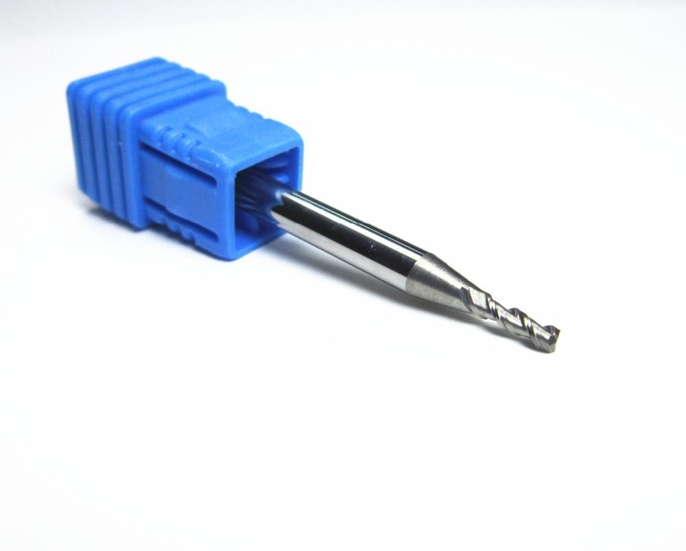 10PCS Ø 2mm HRC45 steel 2 flutes Carbide End Mills milling cutter CNC machine