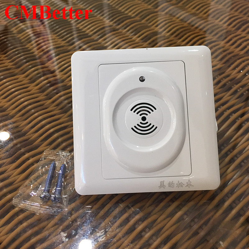 CMBetter New Smart Home Wall Mount Smart Voice Control Light Sensor Switch Sound & Light Controlled hot sale Delay Switch voice control switch two wire system wall mount sound activated and light snesor switch with 30s time delay ac 110 250v