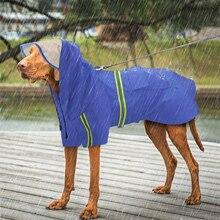 Large Dog Raincoat Waterproof Jacket Labrador Reflective for Medium Big 2XL-5XL Hooded