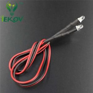 Image 3 - 20 pces led 3mm led uv roxo diodo 9 12 v pré wired resistor emitindo diod redondo dc 20 cm pré prendido leds luz da lâmpada diy