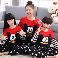 Mother Daughter Son Pajamas Sleepwear Family Clothing Mommy and Me Clothes Mom Baby Son Clothes 100% Cotton Pyjamas Outfits