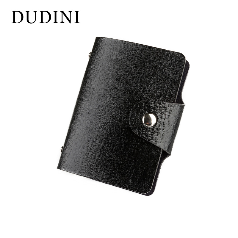 DUDINI New Men's Women Leather Credit Card Holder/Case Card Holder Wallet Business Card Package PU Leather Bag