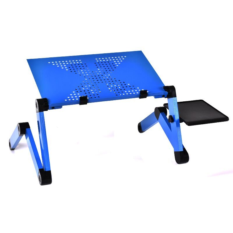 Aluminum Alloy Laptop Table Adjustable Portable Folding Computer Desk Students Dormitory Laptop Table Stand Tray For Sofa Bed alluminum alloy magic folding table bronze color magic tricks illusions stage mentalism necessity for magician accessories