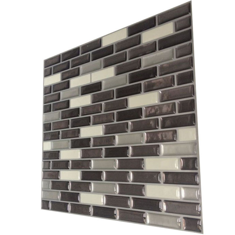 Mosaic wall tile peel and stick vinyl wall tile self for Peel and stick wallpaper for kitchen
