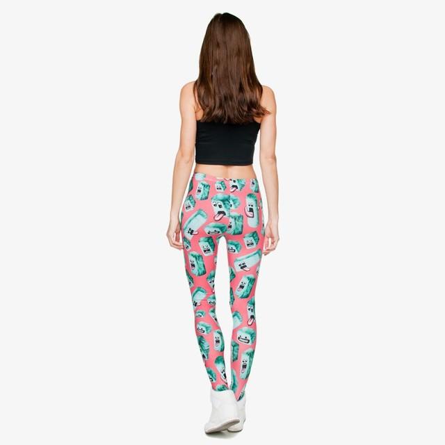 Girl Funny Leggings Beautiful Classical Joker Long Skinny Pants New Polyester 3D Creatures Printed Women Pants Divertido deporte