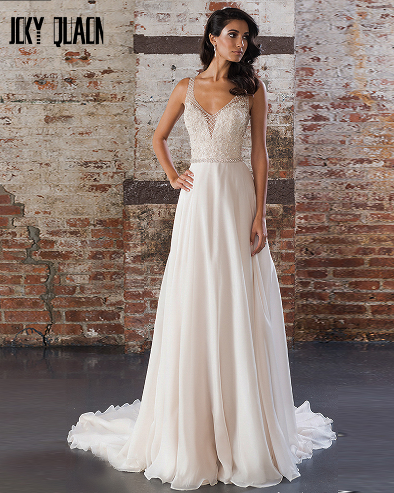 Online buy wholesale chiffon wedding dress from china for Sparkly beach wedding dresses