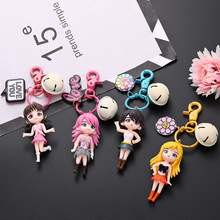 Popular Cute Keychain Water Moon Beautiful Girl Warrior Lovely 3D Doll Key Chain DIY Accessories Cartoon Hot For key ring