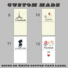 3.5cm/4CM width raw/off white cotton Sewing Labels, children Clothing/Name Tags, Handmade labels/print color logo label