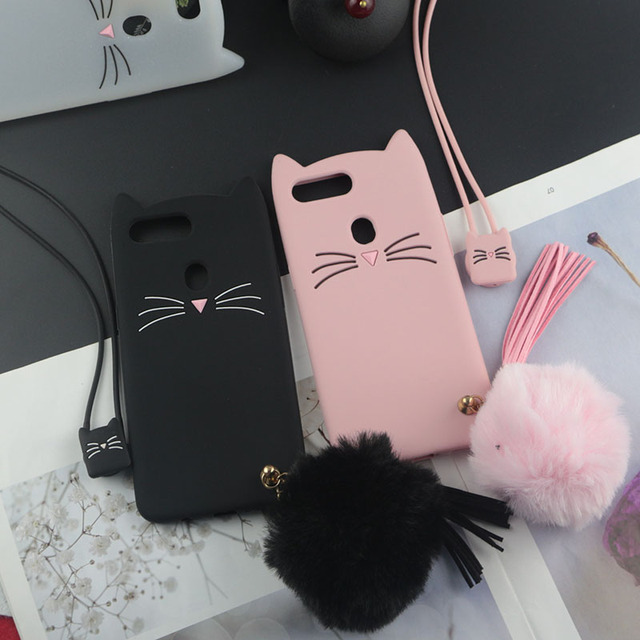 pretty nice 577d8 69293 US $2.84 5% OFF|Cute Cartoon Silicon Case for Oppo R15 Cases Glitter Beard  Cat Lovely Cover for Oppo R15 Pro Plus A37 A53 A57 A59 A83 A77 A73-in ...