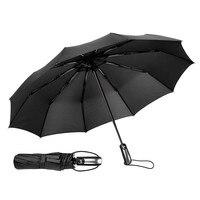 Resistente ao vento 3 dobrável guarda-chuva automático chuva feminino auto luxo grandes guarda-chuvas homem dropshipping quadro à prova de vento 10 k parasol