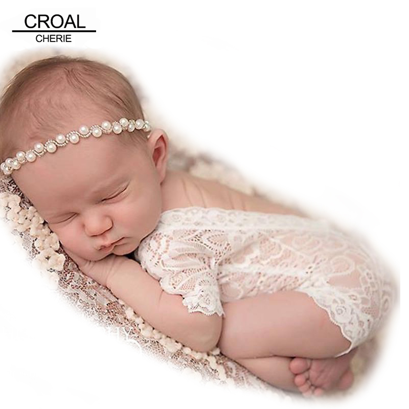 Newborn Baby Photography Props Girl Bodysuit Infant Lace Photo Clothes Romper