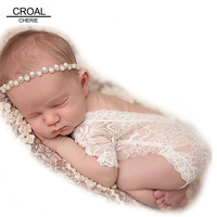 Fashion Newborn Lace Romper Baby Clothes Black White Newborn Photography Props Baby Girls Jumpsuit Infant New