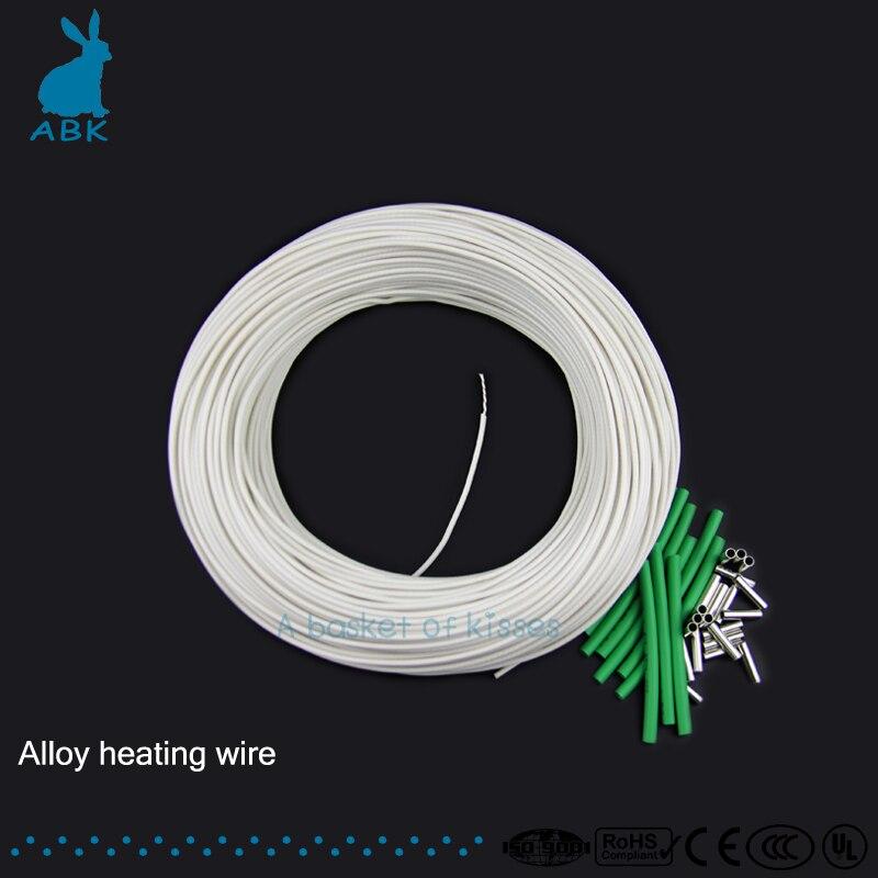100m High quality alloy heating wire 5-230volt 1-3000ohm Silicon rubber heating wire Heating cable heat preserving Antifreeze акустические кабели silent wire ls 1 сечение 2 x 1 5 mm2 100m