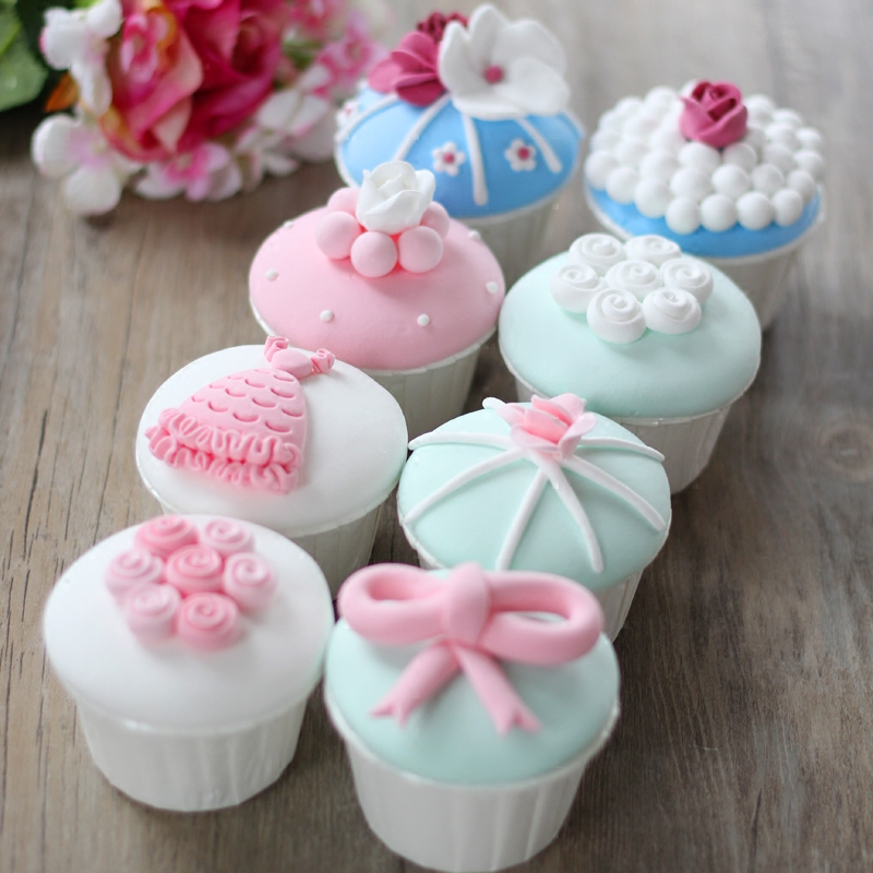 Artificial fake cake simulation model decorative mini cupcake marry Wedding decoration Dessert table decoration furnishings