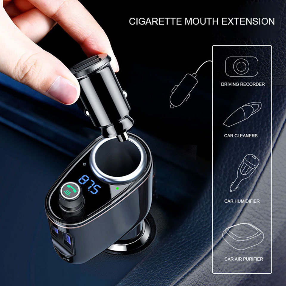 Car Charger Adapter Fast Charging Universal Fm Transmitter Aux Modulator Bluetooth Handsfree Car Audio Mp3 Player Dual Usb Charger Car