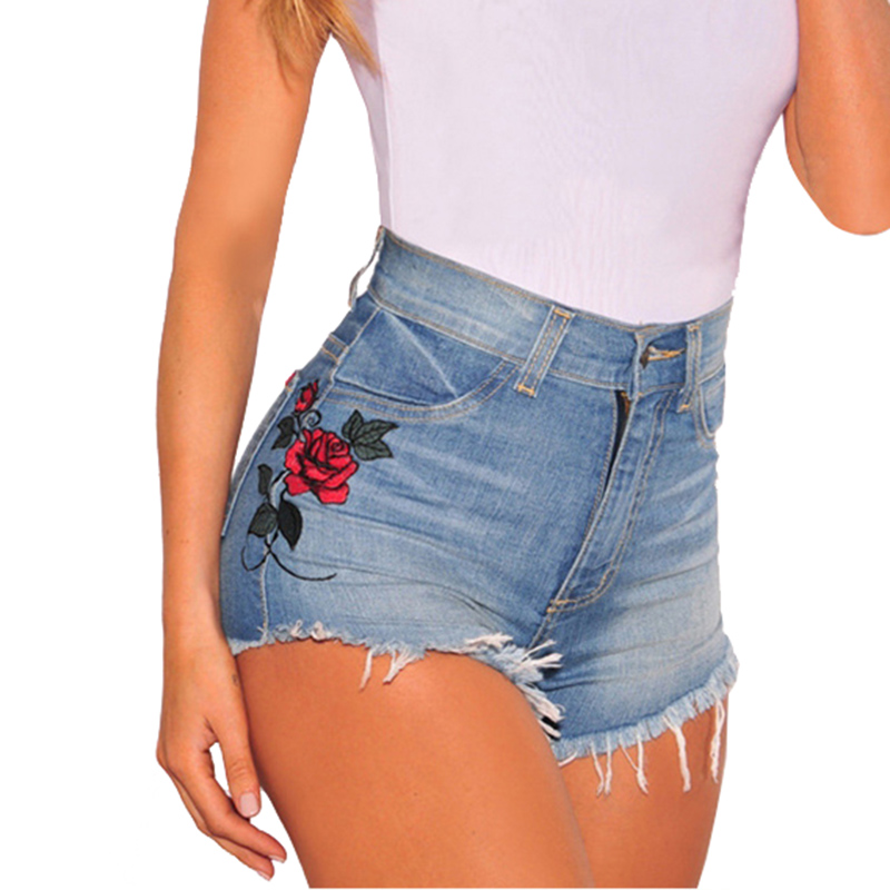 Online Get Cheap Embroidered Denim Shorts -Aliexpress.com ...