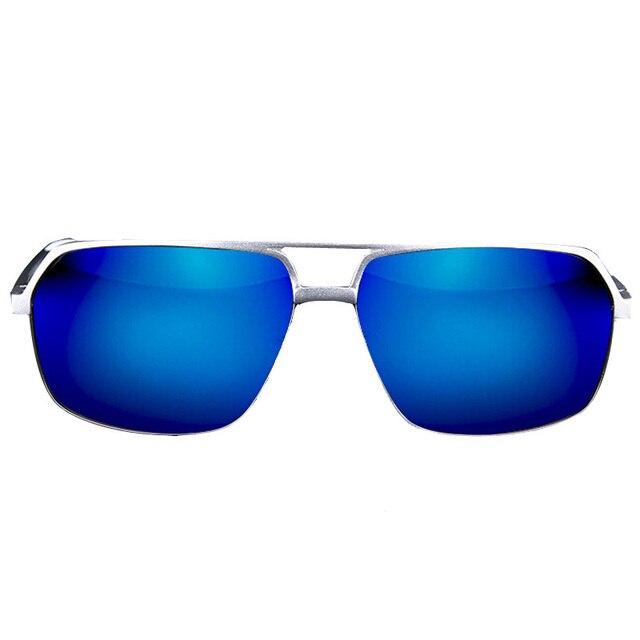 Солнцезащитные очки 2015 мода поляризовыванная мужчины сплава авангард цветное стекло Men половина очки высокое качество