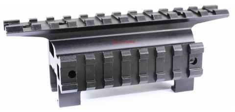 optica do vetor tatico duplo picatinny trilhos garra base de montagem para h k series