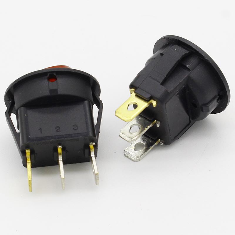 Image 4 - Promotion!10pcs Red Light ON OFF SPST Round Rocker Switch 6A/250V 10A/125V AC-in Switches from Lights & Lighting