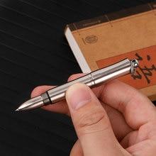 Tiartisan Titanium pen signature metal ballpoint mini portable outdoor book writing carrying notes