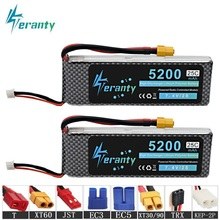 2Pcs MAX 45C 2s 7.4V 5200mAh Lipo Battery For RC Car RobotS Airplanes Helicopter