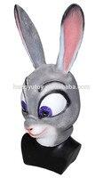 Judy Rabbit Latex Mask Zootopia Halloween Fancy Dress Costume Cartoon Masks