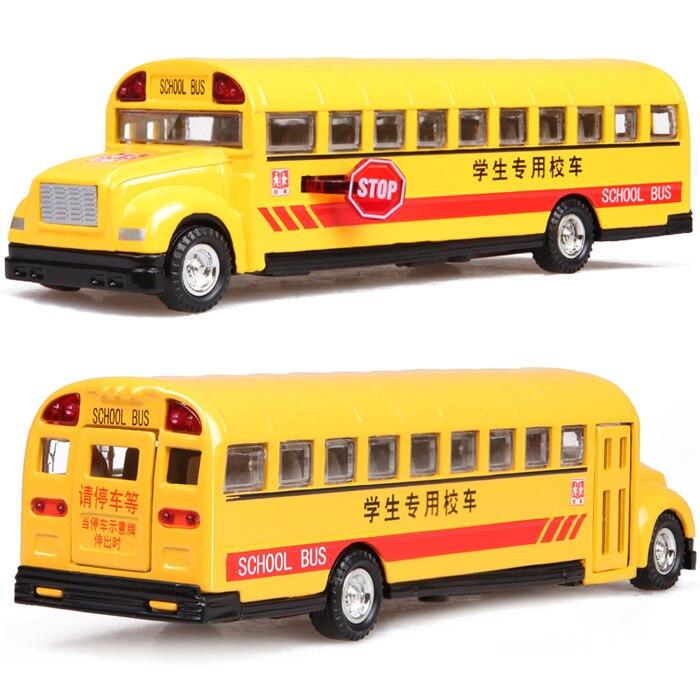 Classic school bus school bus exquisite acoustooptical alloy car model