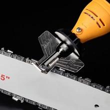Kit de afilado de motosierra, conjunto de accesorios de pulido y afilado para taladro eléctrico, herramienta de cadenas de sierra, conjunto de accesorios rotativos
