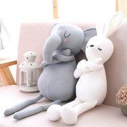 Kawaii elefante travesseiros para o bebê coussin enfant travesseiro bebek oreiller infantil brinquedos do bebê kussen desenhos animados crianças quarto decoração
