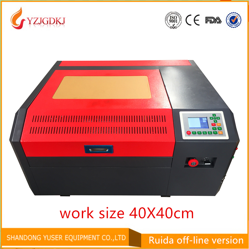 Free Shipping 4040 Co2 Laser Engraving Machine Ruida Off-line Control Panel Diy Mini 50w Laser Cutting Machine Coreldraw Support