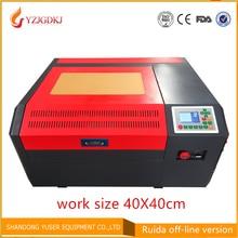 Бесплатная доставка 4040 co2 лазерная гравировка машины Ruida off-line панель управления diy Мини 50 Вт устройство для лазерной резки Coreldraw поддержки