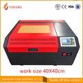 Gratis verzending 4040 co2 laser graveermachine Ruida off-line controle panel diy mini 50 w laser snijmachine coreldraw ondersteuning