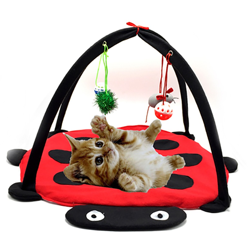 Smieklīgas daudzfunkciju kaķu šūpuļtīkli Spēlēt piekārtiem miega gultas kaķu mēbelēm Telts ar bumbām Kaķis Spēlēt mājas rotaļlietas kaķim