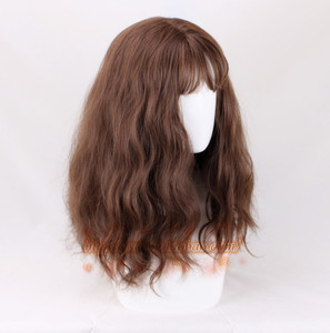 Image 4 - Hermione Jean Granger Cosplay Wig Brown Curly Heat Resistant Synthetic Hair Cosplay Costume Wigs + Wig Cap
