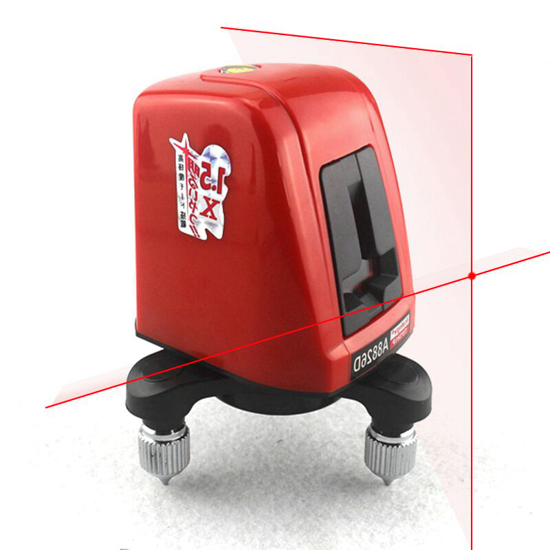 AcuAngle A8826D Laser Level 2 Red Lines with 1 Point 360 degree Rotation Self- leveling Cross Laser Levels firecore a8826d 2 lines laser level 1v1h1d cross self leveling red beam laser 0 28m tripod