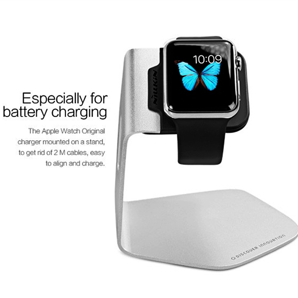 Nillkin For Apple Watch Edition Hermes 38mm 42mm Aluminium Battery Baterai Iwatch 2 Charging Charger Holder Stand Smart Watches Desk Charge Dock In Mobile Phone Holders