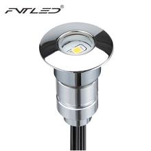 DHL,, 30 шт., светодиодный подземный светильник с драйвером, мини круглый светильник для пола, настенный светильник 24 мм, 0,6 Вт, 12 В постоянного тока, светодиодный светильник для лестницы