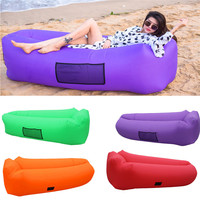 Inflatable Air Sofa Bed Lazy Sleeping Camping Bag Beach Hangout Windbed Beach camping inflatable sofa #2m20