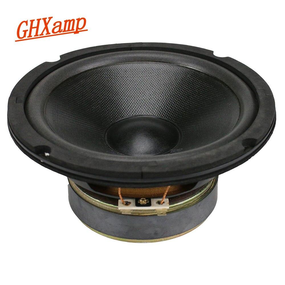 GHXAMP 6.5 Inch Woofer Speaker Unit 4ohm 45W Bass Speaker 91DB for Car LoudSpeaker Aluminum Voice Coil 1PC ghxamp 120mm 5 inch bass speaker unit 4ohm 30w 2 way diy woofer speaker subwoofer car home made loudspeaker 1pc