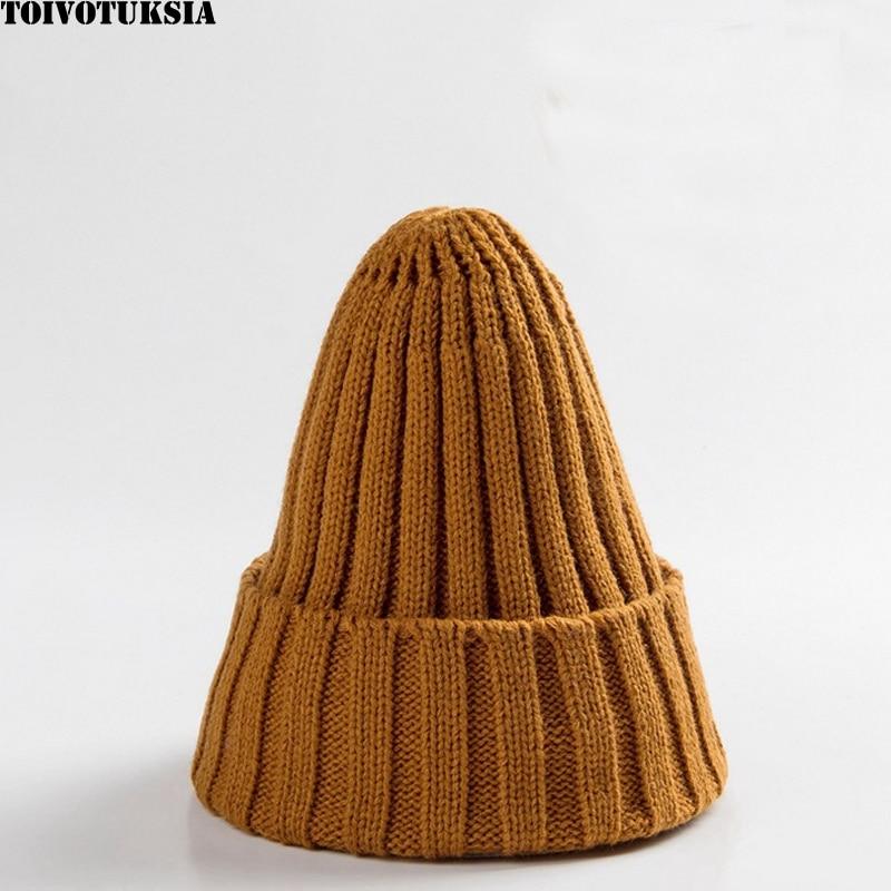 Russian Fall Winter Beanies Knitted Hats Snap-back Cap Ladies Female Fashion Elegant Women