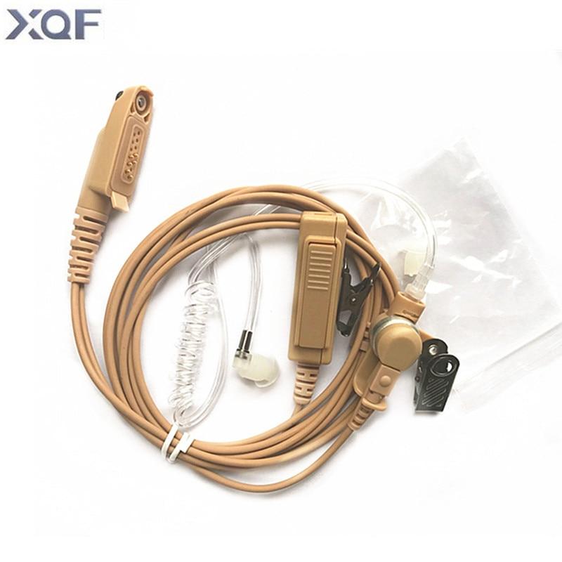 Covert Acoustic Tube Beige Flesh Color Earpiece Headset Mic For Motorola Two Way Radio GP328Plus GP344 GP388 GP688 Walkie Tlakie