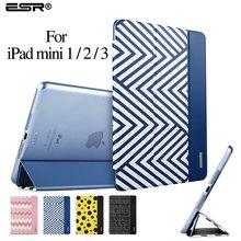 Case for ipad mini 1/2/3, esr (Versión Ultra Delgado) tríptico flip case smart cover auto función de despertador/sleep] para ipad mini 1/2/3(China (Mainland))